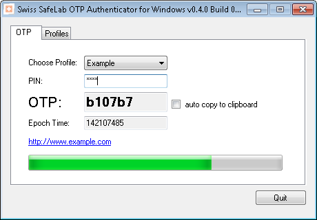 Swiss SafeLab OTP Authenticator for Windows